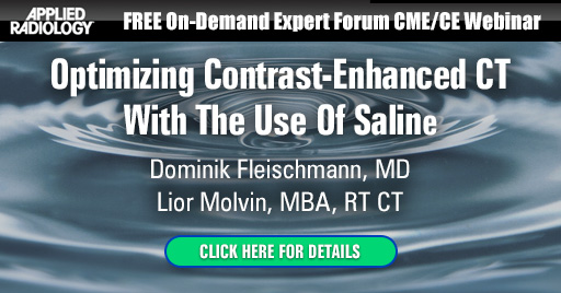Optimizing Contrast-Enhanced CT With The Use Of Saline