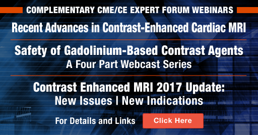 Recent Advances in Contrast-Enhanced Cardiac MRI / 4 Part Contrast Webcasts and On-Demand Webinars