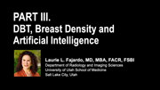 Part 3 | DBT, Breast Density and Artificial Intelligence